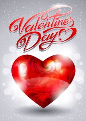 Fancy valentine39s day greeting card 02 vector