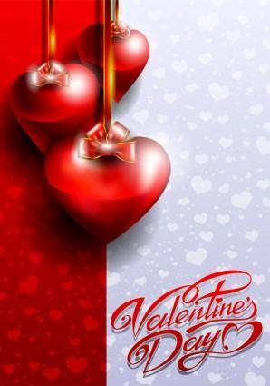 free vector Fancy valentine39s day greeting card 03 vector