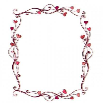 Heartshaped border 02 vector