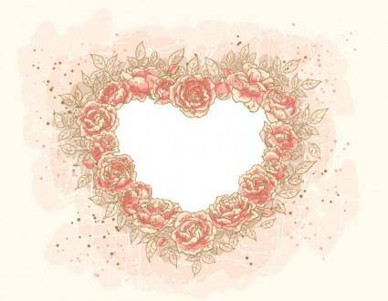 free vector Heartshaped border 04 vector