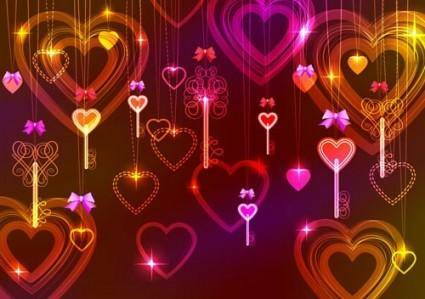 free vector Gorgeous light of valentine39s day 03 vector