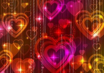 free vector Gorgeous light of valentine39s day 04 vector