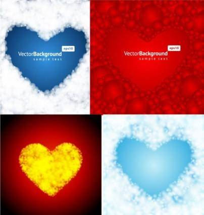 free vector 4 heartshaped vector