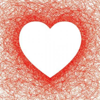 Heartshaped red line vector