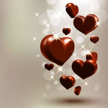 free vector Starstudded romantic heartshaped 03 vector