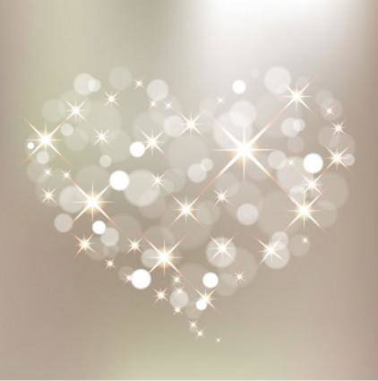 Starstudded romantic heartshaped 04 vector