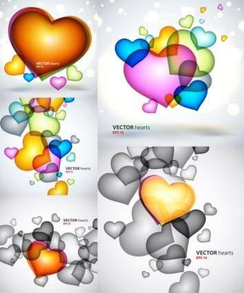 free vector Colorful heartshaped graphics vector