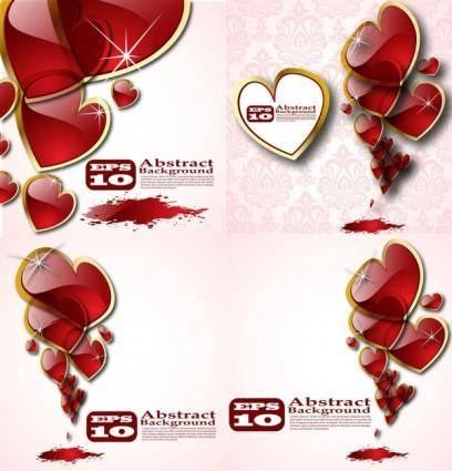 free vector Beautiful crystal heart vector