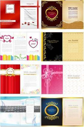 free vector Valentine day folding design template vector
