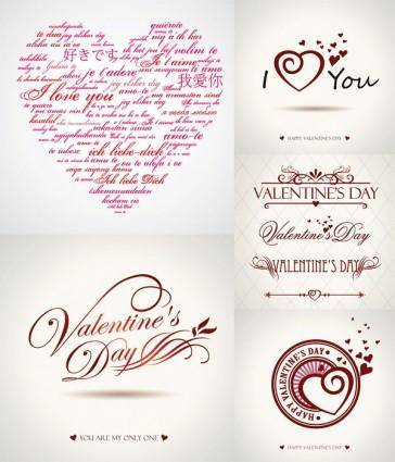 free vector Valentine day wordart graphics vector