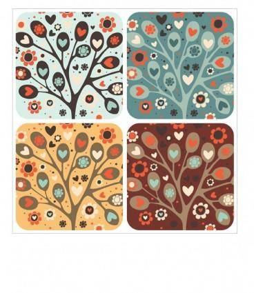 free vector Heartshaped vector may be trees