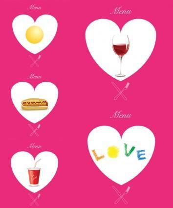 Western pink heartshaped graphics vector