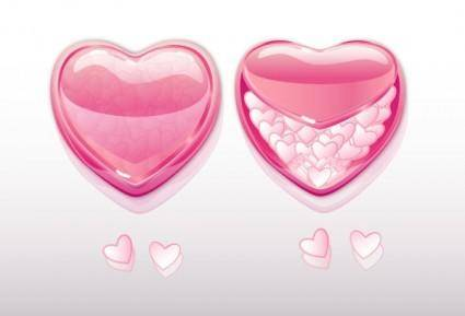 Beautiful heartshaped element vector