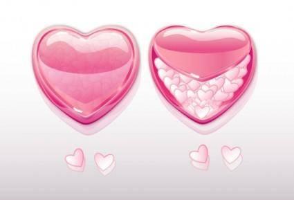 free vector Beautiful heartshaped element vector