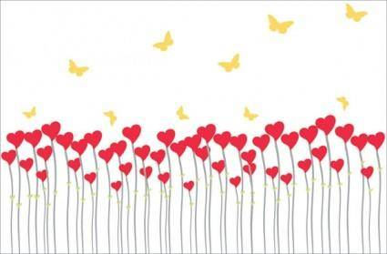 free vector Heartshaped vector butterfly can