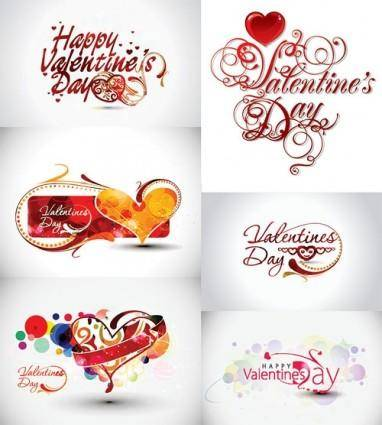 Valentine day word theme vector