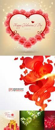free vector Beautiful valentine day vector