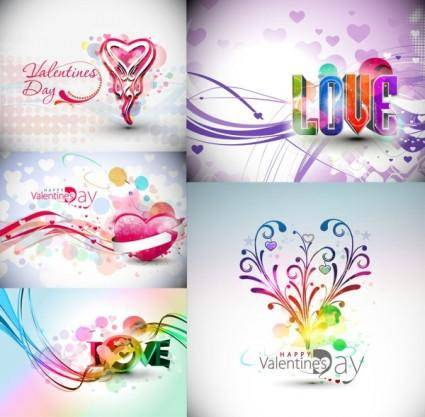 free vector Symphony valentine day decorations vector