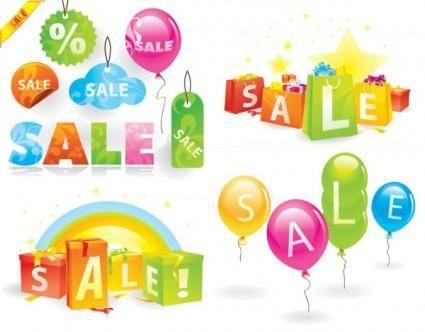 free vector Lovely shopping theme vector