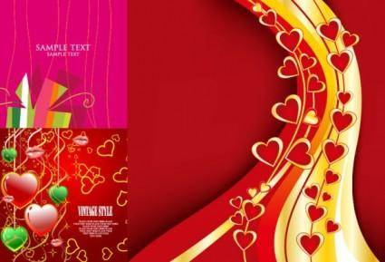 free vector 3 beautiful valentine day vector elements