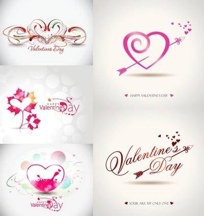 Romantic valentine day graphics vector