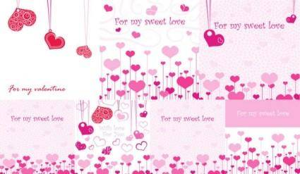 Lovely romantic valentine day greeting card vector