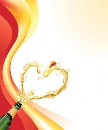 free vector Heartshaped vector 5 champagne