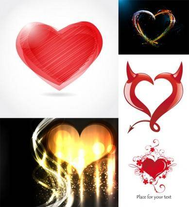 Romantic heartshaped vector graphic
