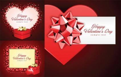 free vector Romantic valentine day gift card vector