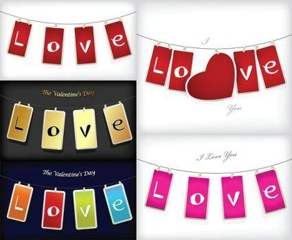 free vector Love tag vector