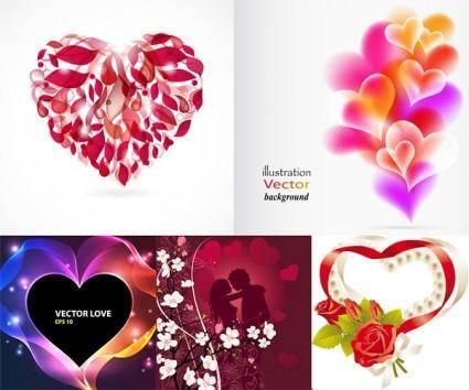 free vector Romantic heartshaped vector graphic