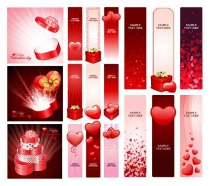 free vector Practical elements of vector 1 valentine day