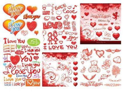 free vector Practical elements of vector 3 valentine day