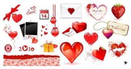 free vector Valentine day love element vector