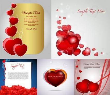 Romantic love card vector