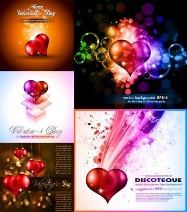 free vector Bright shine of love vector