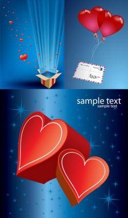 free vector Romantic gift of love vector