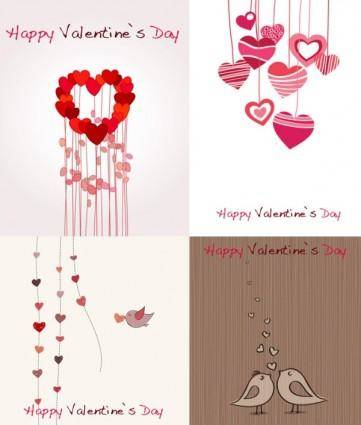 free vector Lovely romantic valentine day greeting card vector