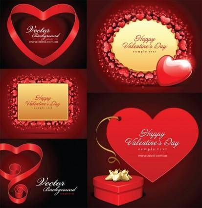 free vector Romantic valentine day love card vector