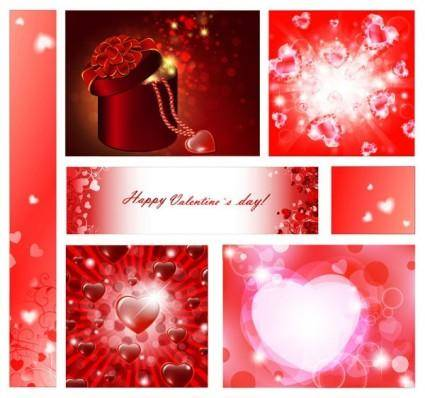 free vector Vector elements of a romantic valentine day