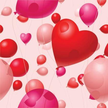 Valentine day balloon vector