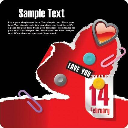 214 valentine day theme vector