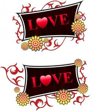 free vector Valentine day decorations vector
