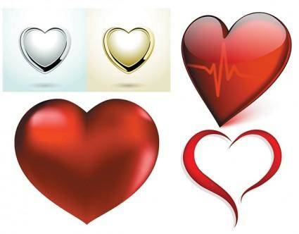free vector A few red heart vector