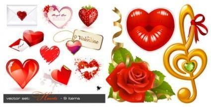 free vector Love theme vector