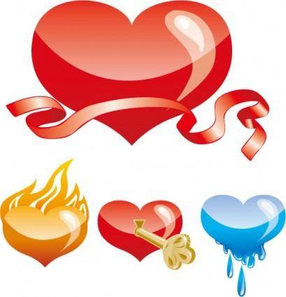 free vector Special heartshaped vector
