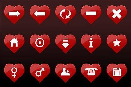 free vector Red heartshaped vector
