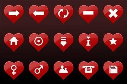 free vector Red heartshaped vector