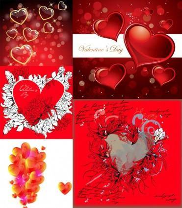 Romantic heartshaped vector