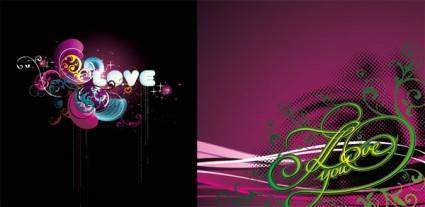 free vector 2 the trend vector love theme